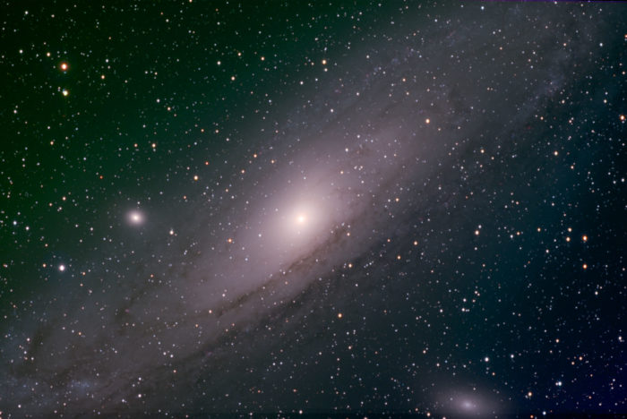 Andromeda galaxy image taken from my backyard observatory.