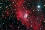 This image is the Bubble Nebula,an emmision nebula in Cassiopeia